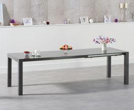 Jamie Extending Dark Grey High Gloss Dining Table