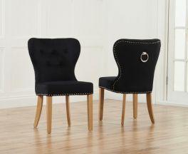 Kalim Black Dining Chair (Pairs)