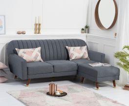 Leslie Grey Linen Sofa Bed