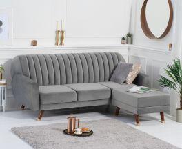Leslie Grey Velvet Sofa Bed