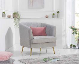 Lucena Grey Linen Armchair