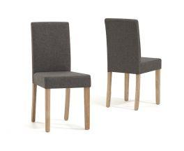 Maiya Brown Weave Fabric Chairs (Pairs)