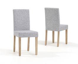 Maiya Grey Weave Fabric Chairs (Pairs)