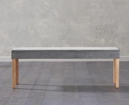 Maiya Large Plush Grey Bench