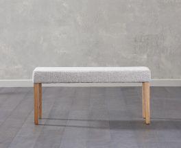 Maiya Small Grey Bench