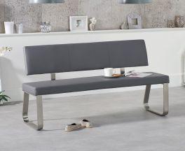 Malibu Large Grey Bench With Back