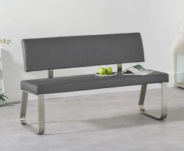 Malibu Medium Grey Bench With Back