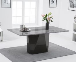 Malina 180cm Light Grey Marble Dining Table