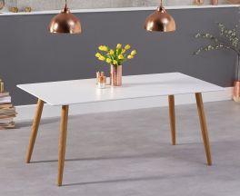 Mansfield 180cm Matt White Dining Table