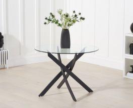 Marina 100cm Glass Dining Table