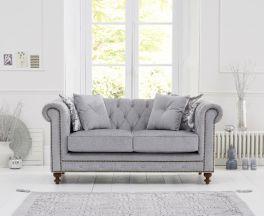 Montrose Grey Plush Fabric 2 Seater Sofa