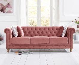 Montrose Blush Plush 3 Seater Sofa