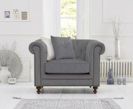 Montrose Grey Linen Fabric Arm Chair