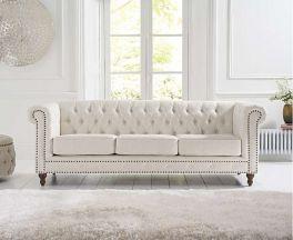 Montrose Ivory Linen 3 Seater Sofa