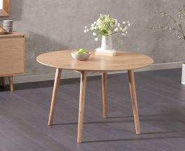 Newark 120cm Round Oak Dining Table