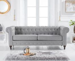 Cardiff Grey Linen 3 Seater Sofa