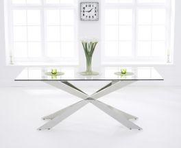 Jazz 160cm Glass Dining Table