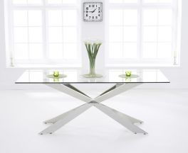 Jazz 200cm Glass Dining Table