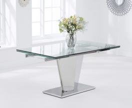 """Lucille 160 €"""" 220cm Extending Glass Dining Table"""