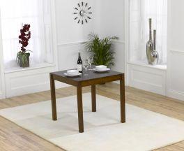 Marbella 80cm Dark Solid Oak Dining Table