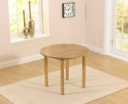 Promo 90cm Round Drop Leaf Extending Dining Table