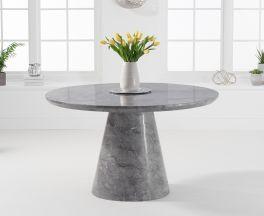 Ramiro 130cm Round Grey Marble Dining Table