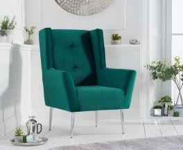 Brooklyn Green Velvet Accent Chair