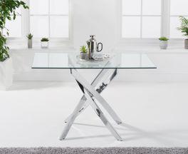 Daytona 120cm Rectangular Glass Dining Table