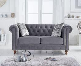 Montrose Grey Velvet 2 Seater Sofa
