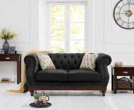 Highgrove Black Leather 2 Seater Sofa