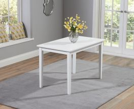 Chichester Solid Hardwood & Painted 115cm Dining Table - White