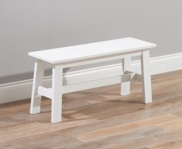 """Chichester Solid Hardwood & Painted Small Bench €"""" White"""