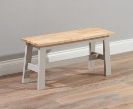 Chichester Solid Hardwood & Painted Small Bench - Oak & Grey