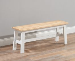 Chichester Solid Hardwood & Painted Large Bench - Oak & White
