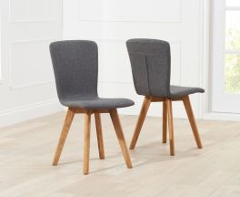 Tribeca Charcoal Fabric Dining Chairs