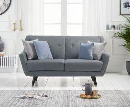 Laura 2 Seater Sofa in Grey Linen