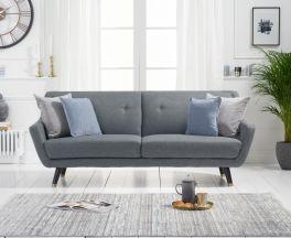 Laura 3 Seater Sofa in Grey Linen