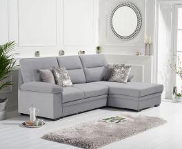 Jennifer Grey Linen Right Hand Facing Corner Sofa Bed