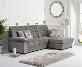 Jennifer Grey Velvet Right Hand Facing Corner Sofa Bed