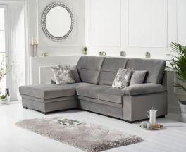Jennifer Grey Velvet Left Hand Facing Corner Sofa Bed