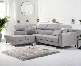 Alyssa Grey Linen Left Hand Facing Corner Sofa Bed