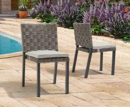 Carnation Grey Garden Chair (Pairs)
