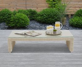 Columbine Ivory/Cream Wicker Garden Coffee Table