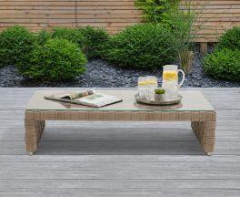 Columbine Taupe/Brown Wicker Garden Coffee Table