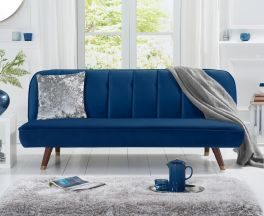 Jodie Sofa Bed in Blue Velvet