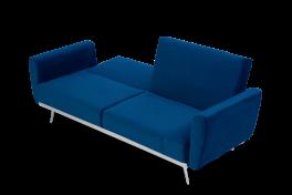 Elissia Blue Velvet Sofa Bed