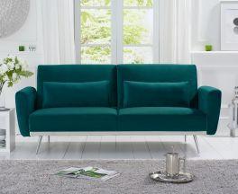 Elissia Green Velvet Sofa Bed