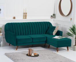Leslie Sofa Bed in Green Velvet