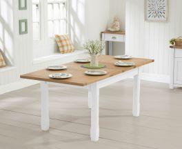Sandringham 130cm Oak and White Extending Dining Table