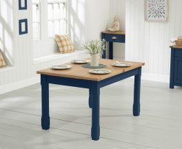 Sandringham 130cm Oak and Blue Extending Dining Table